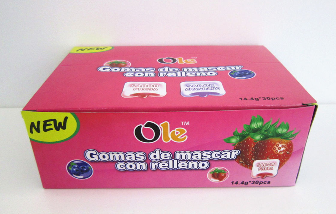 4 in 1 Fruit&Mint Chewing Gum 14.4g*30pcs 2 Flavors in One Box / Children Chewing Candy